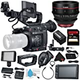 Canon EOS C200 EF Cinema Camera #2215C002 (International Model) + Canon CN-E 24mm T1.5 L F Cinema Prime Lens (EF Mount) + 256GB SDXC Card + Deluxe Cleaning Kit + Microfiber Cloth Bundle (Color: Starter, Tamaño: w/24mm lens)