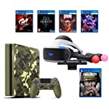 PlayStation 4 Slim Call of Duty WWII Bundle (6 Items): PSVR Launch Bundle, PS4 Slim 1TB Limited Edition Console - Call of Duty WWII Bundle, and 4 Game Discs: Doom, Skyrim, Worlds, Gran Turismo Sports
