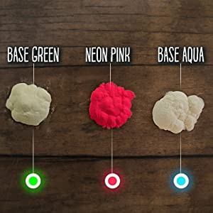 3 Pack - Glow in The Dark Pigment Powder for Slime Kits 90 Grams (3 oz) Slime Supplies Set; add Powder to Epoxy, Art Resin, Glow in The Dark Glue Or Nail Polish, Party Supplies, Kids Slime Making Kit (Color: Green - Aqua - Pink)