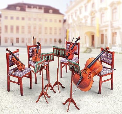 Maquette en carton : Quatuor de cordes