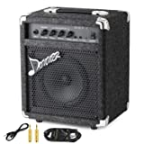 New Donner 15W Bass Guitar Amplifier DBA-1 Electric Bass Combo AMP With Cable (Color: DBA-1)