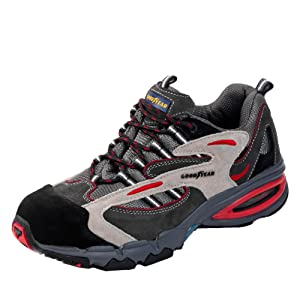 GOODYEAR Sicherheitsschuhe S1P HRO Veloursleder, atmungsaktiv, PU/NitrilSohle, flexibler Durchtrittschutz  Schuhe & HandtaschenKritiken und weitere Informationen