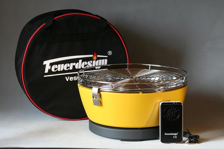 Feuerdesign VESUVIO Höllenheißer Tischgrill Picknickgrill Bootsgrill mit Akku-Lüfter Farbe GELB jetzt bestellen
