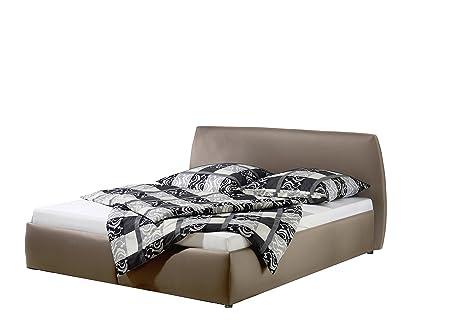 Maintal Betten 232657-4130 Polsterbett Minu 180 x 200 cm, Kunstleder taupe