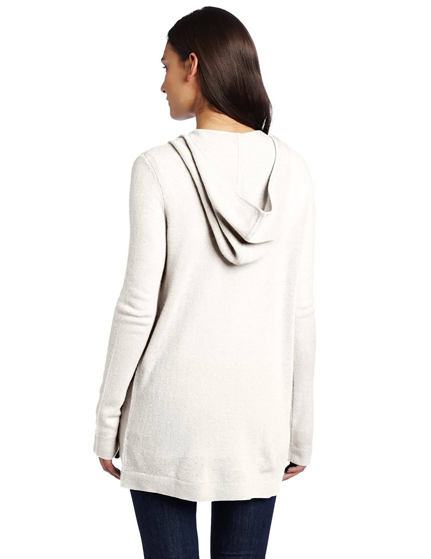 Christopher Fischer 100% Cashmere Women's Long Sleeve Hooded Open Cardigan