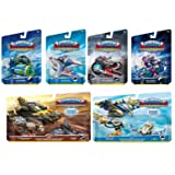 Skylanders SuperChargers 6 Pack Vehicle Starter Bundle! 6 Vehicles + 2 Characters: Dive Bomber, Sky Slicer, Crypt Crusher, Sea Shadow, Shark Shooter, Shark Tank, Hurricane Jet-Vac, Jet Stream