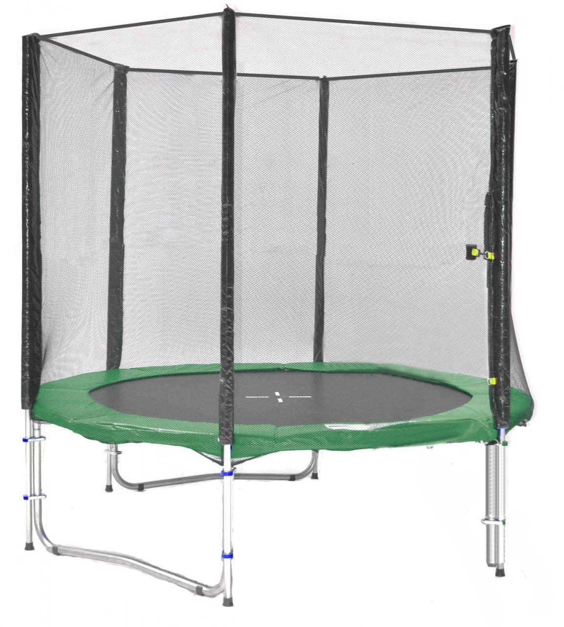 SB-185-G Professionell Gartentrampolin 185cm incl. Netz, Leiter 90kg Traglast