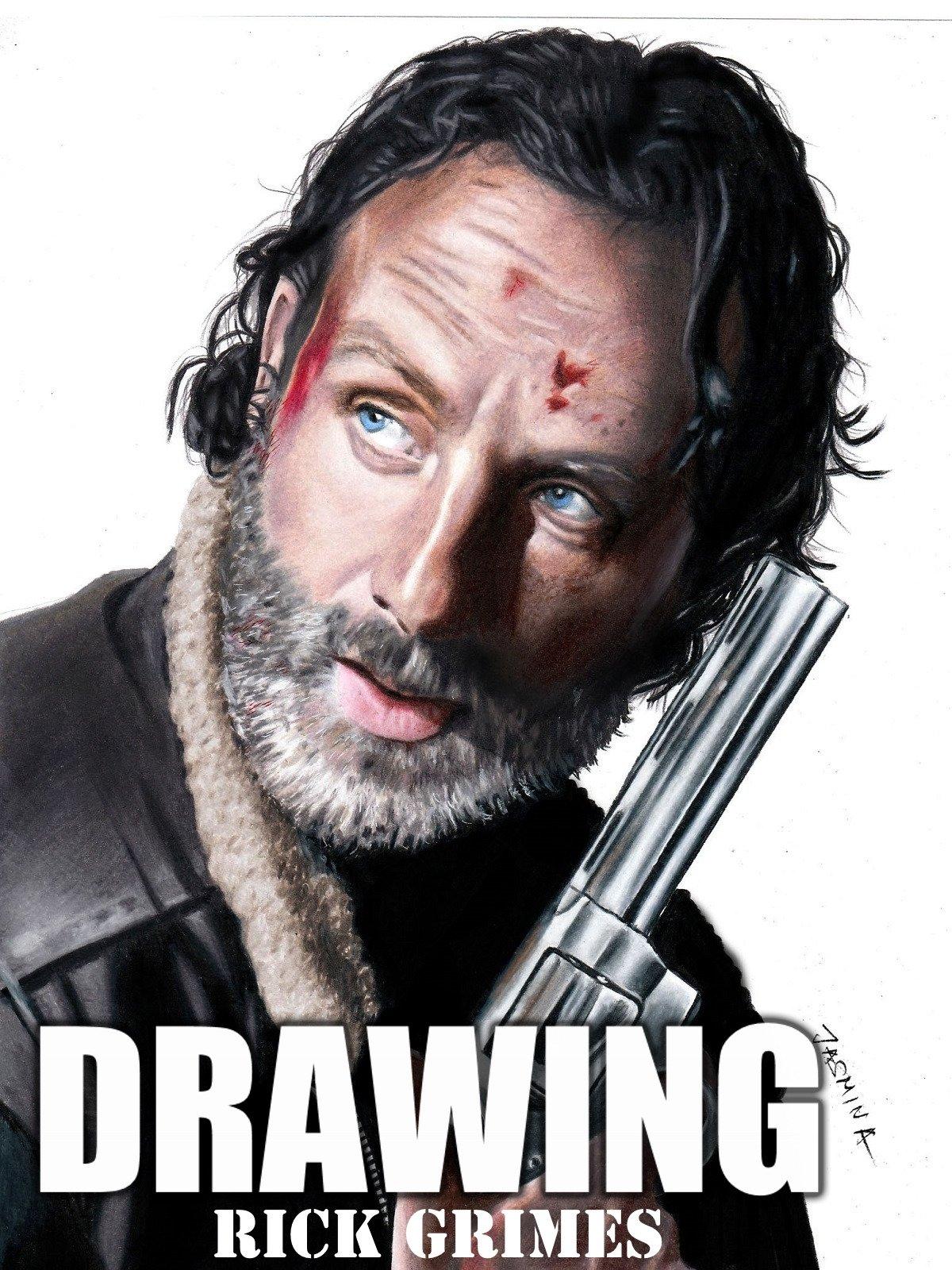Clip: Drawing Rick Grimes