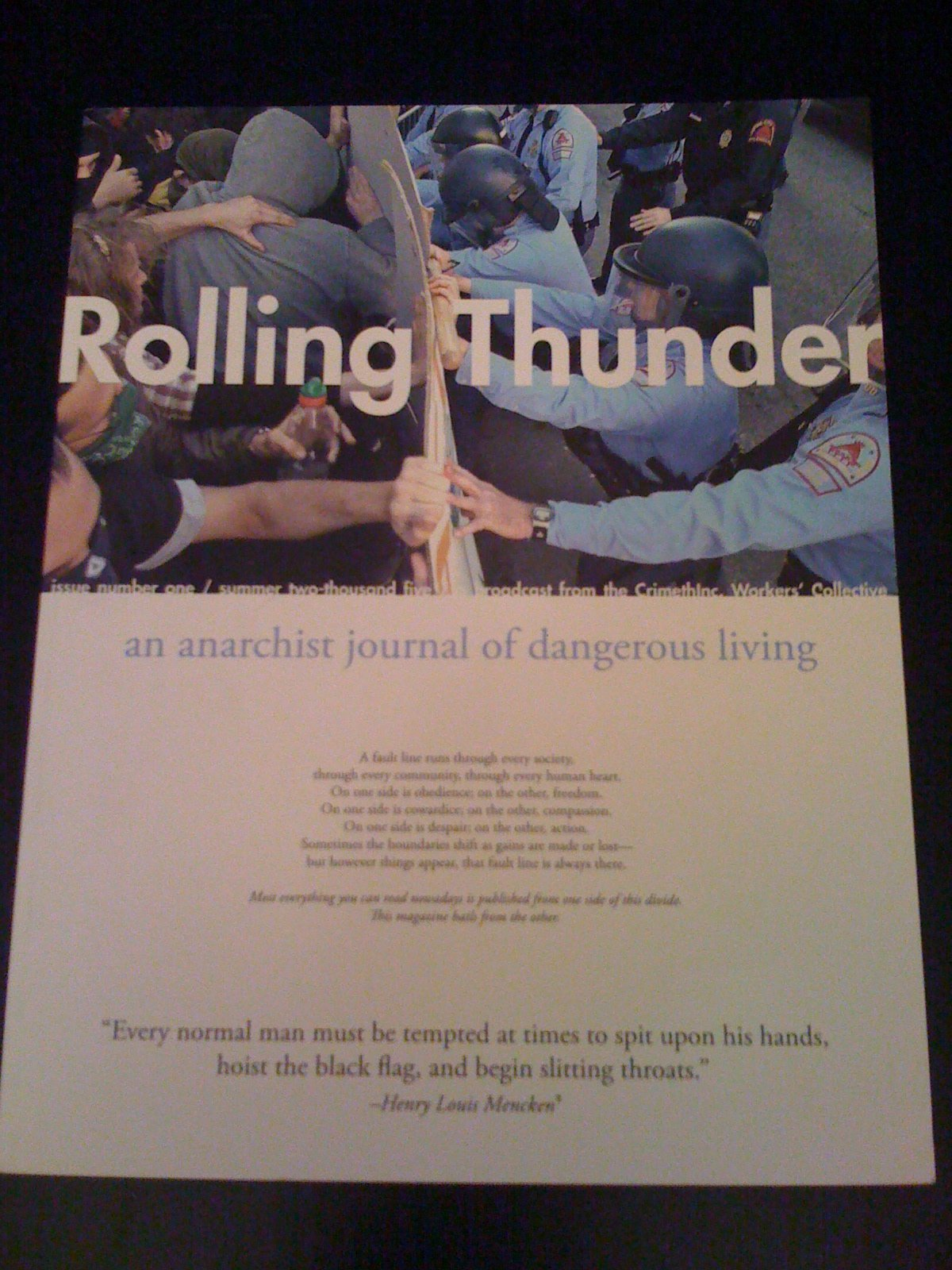 Rolling Thunder An Anarchist Journal of Dangerous Living, CrimethInc