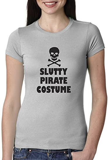 Women's Slutty Pirate Costume T shirt Cheap and Funny Halloween Costume