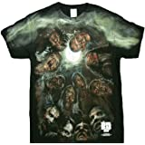 AMC The Walking Dead Men's Walkers In a Huddle T-Shirt Black 2XL