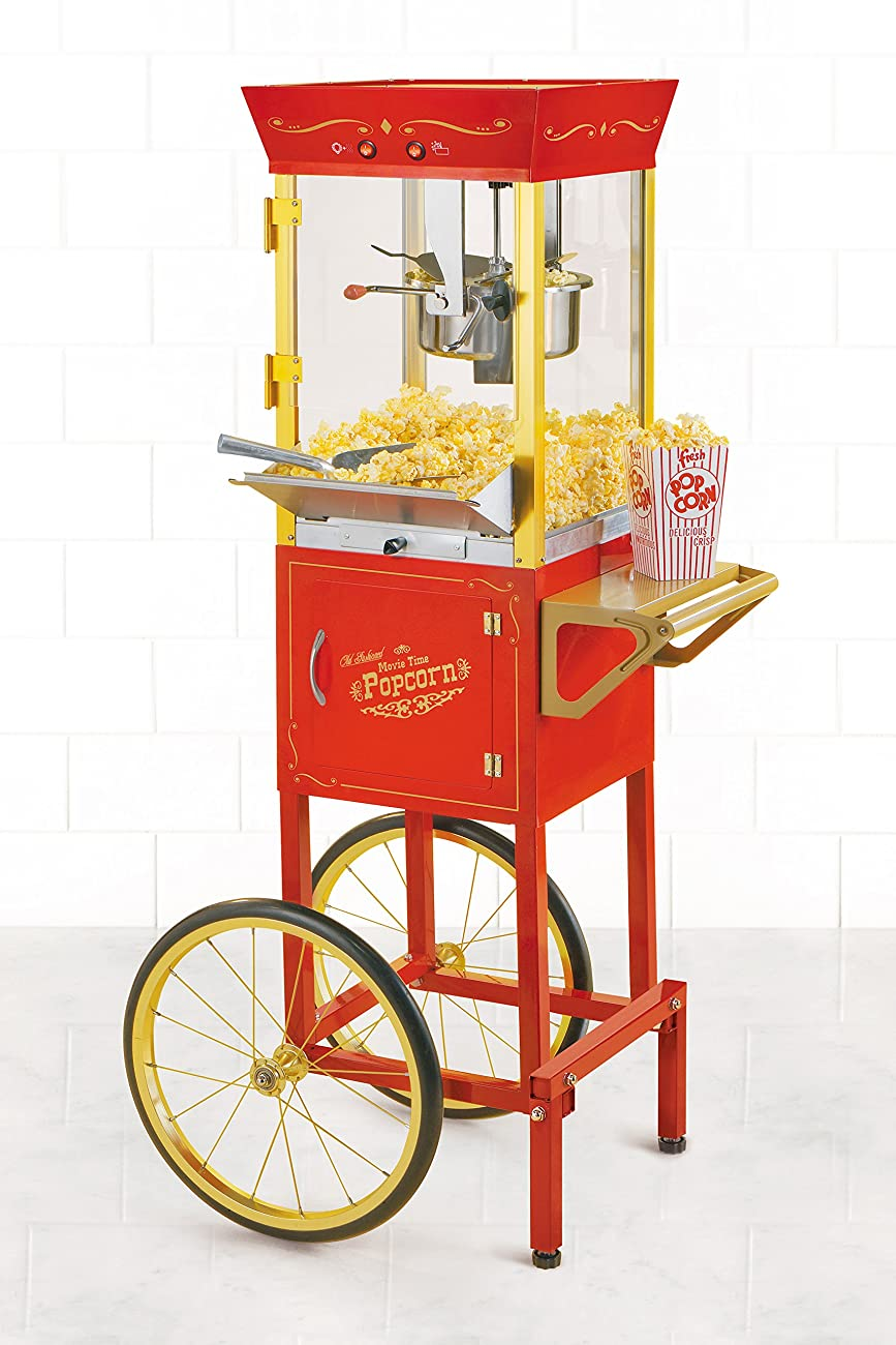 Nostalgia CCP510 53-Inch Tall Vintage Collection 6-Ounce Kettle Popcorn Cart 1