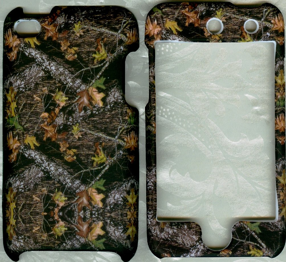 Camo leaves new rubberized hard case snap on cover apple iPod touch 4 4th generation rubberized hard shell case w ribbed design holster