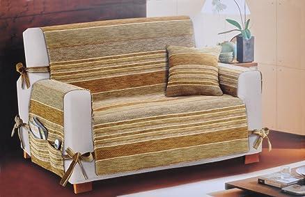 Lebandes Copri divano 4 posti cm 225 con tasche [ROSSO]