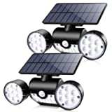 Solar Lights Outdoor, Ambaret 30 LED Motion Sensor Light Waterproof Solar Motion Lights Outdoor Spotlights Security Night Lights 360° Rotatable Wall Light for Yard Stairway Security Lighting (2 Pack) (Color: 2 Pack)