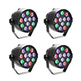 GBGS Led Par uplighting Par Wall Wash Wedding DJ Up Light RGBW Color Mixing Can Lamp for KTV Bar Pub Dance(4 Pack) (Tamaño: 4 Pack,No remote function)