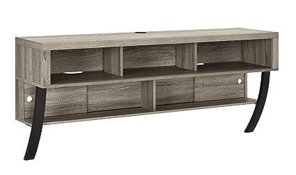 "Altra Furniture Wall Mounted TV Stand, 60"", Sonoma Oak"