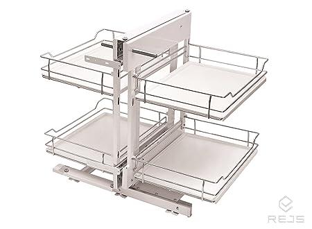 Magic Ecke Komfort Speicher fur Kuche cabinets- mit Boden aus Kunststoff, plastik, Left 800mm