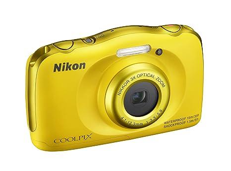 """Nikon Coolpix S33 - 13,2 MP appareil photo compact (2,7 """", zoom optique 3x), jaune"""