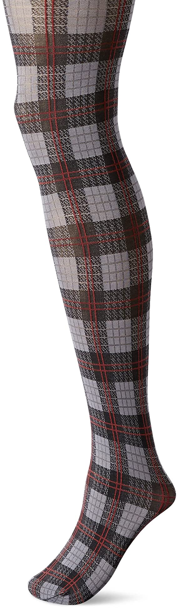 Hue Women's English Plaid Tights with Control Top