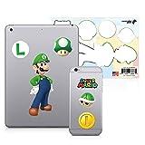 Controller Gear Super Mario - Character Tech Decal Pack - Luigi - Nintendo Wii; GameCube