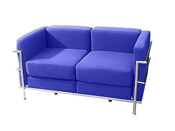 PIQUERAS Y CRESPO Modell Tarazona Modulo/erwartet von zwei-Sitzer Sofa–Stoffbezug in Stoff BALI blau