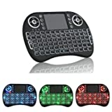Backlit Mini Keyboard Air Mouse AMGUR Mini Wireless Keyboard with Touchpad Mouse for Android TV Box Kodi Box Mini PC Raspberry Pi Smart TV Keyboard