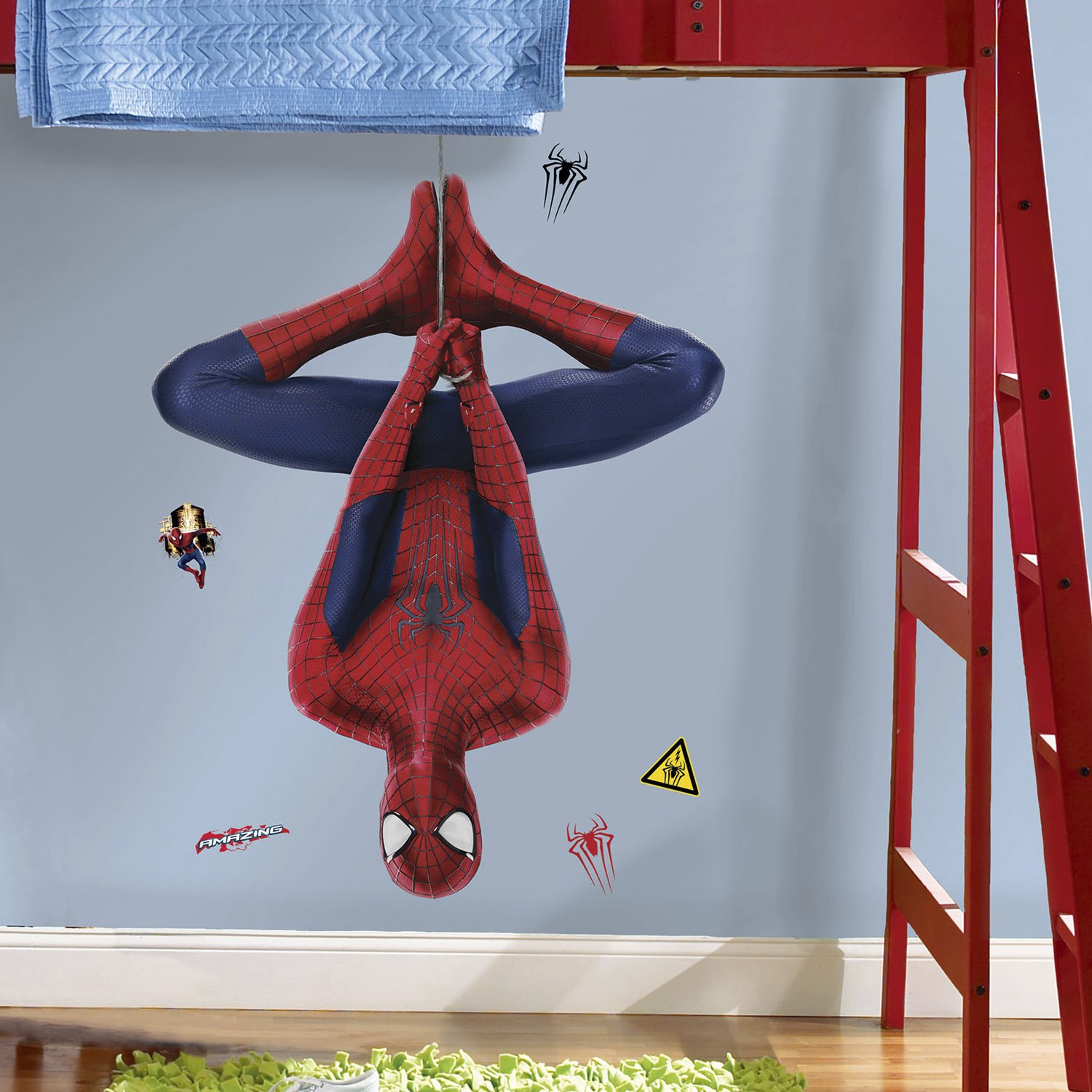 he Amazing Spider-Man 2 Web Slinging Peel and Stick Giant Wall Decal