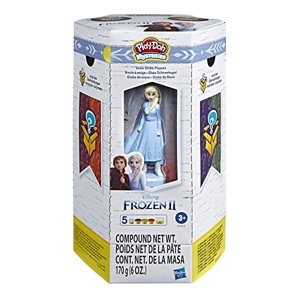 Play-Doh Mysteries Disney Frozen 2 Snow Globe Playset Surprise Toy with 5 Non-Toxic Colors (Color: Brown)