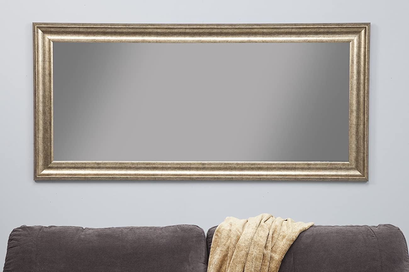 Sandberg Furniture 14111 Full Length Leaner Mirror Frame, Antique Gold 3