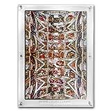 2018 DE Ivory Coast 1 kilo Silver Giants of Art Sistine Chapel 1 OZ Brilliant Uncirculated