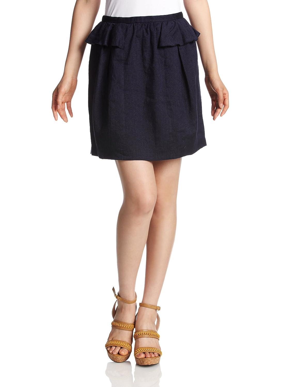 Amazon.co.jp: (トランテアン ソン ドゥ モード)31 Sons de mode リネンツイードぺプラムスカート 33202 70 ネイビー S: 服&ファッション小物通販