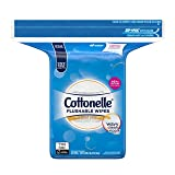 Cottonelle FreshCare Flushable Wipes Refill, 252 Flushable Wet Wipes, Lightly Scented