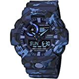 Casio GA700CM-2A G-Shock Men's Watch Blue Camo 53.4mm Resin (Color: Blue Camo)