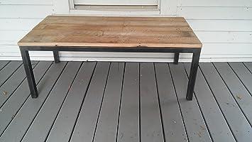 Barnwood Coffee Table - Metal Frame
