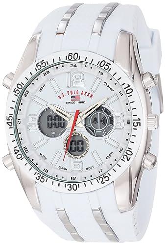 U.S. Polo Assn. Sport Men's US9282 White Analog-Digital Chronograph Watch