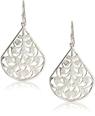 1928 Jewelry Silver Vine Earrings