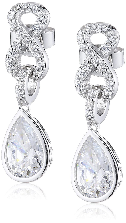 Diamonfire Damen-Ohrhänger 925 Sterling Silber Zirkonia Cocktail Linie weiß 62/1554/1/082 jetzt kaufen