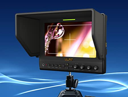"""Lilliput 663/S2, 7"""" (1280x800) Viewfinder monitor, HD-SDI, HDMI in/out, sac transport"""