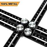 Multi Angle Measuring Ruler, Ankace Premium Aluminum Alloy Ultimate 836 Angleizer Template Tool/Layout Tool Measurement for Handymen, Builders, Craftsmen, DIY-ers, Black (Color: Black)