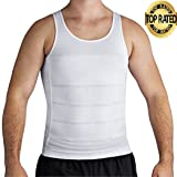 Roc Bodywear Mens Slimming, Compression shirt and Body Shaper. Top Rated (Lg, White)