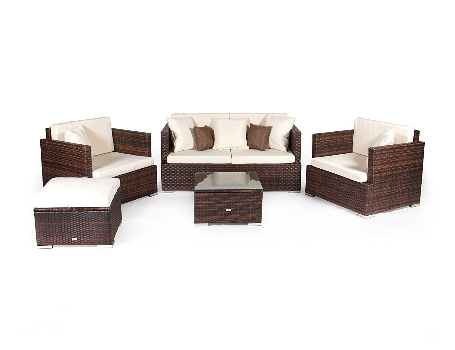 Vanage LP-9993A Gartengarnitur / -möbel, Chill und Lounge Set Melbourne