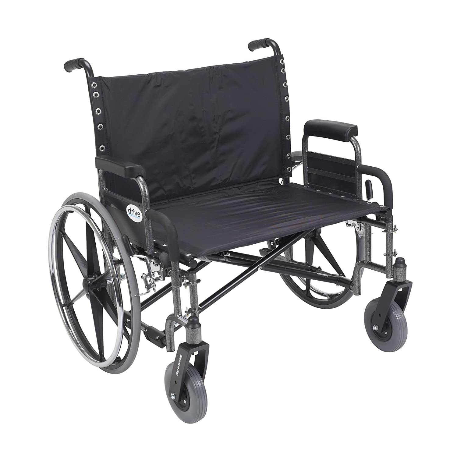 Drive Medical Sentra Heavy Duty Wheelchair with Various Arm Styles, Chrome, 30""