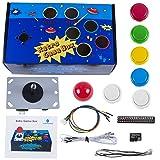 SunFounder Raspberry Pi Retro Game Box DIY Arcade Fighting Joystick Push Buttons Controller for RetroPie Raspberry Pi 3/2/B+ with TF 8g Card