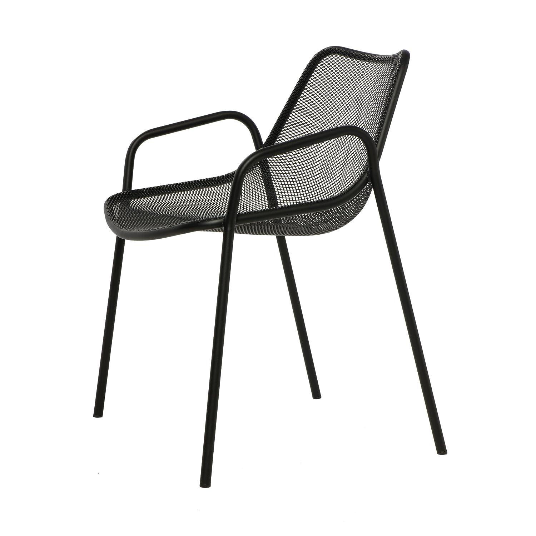 Round Armchair Armlehnstuhl schwarz