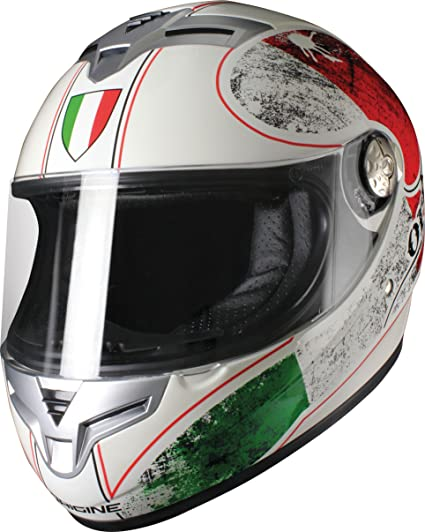 Version origine casque golia italia, brillant blanc nacré