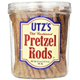 Utz Old Fashioned Pretzel Rods, 27 oz Barrel