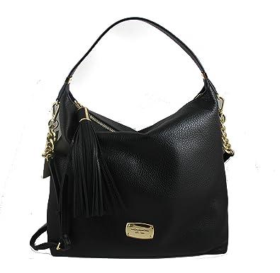 Michael Kors Bedford Black Leather Shoulder Tote Bag 8