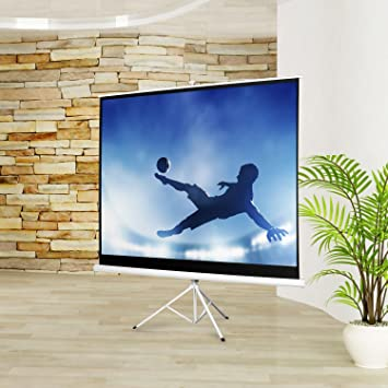 9 frontstage ecran de de projection avec tr pied pour video video projecteur home. Black Bedroom Furniture Sets. Home Design Ideas