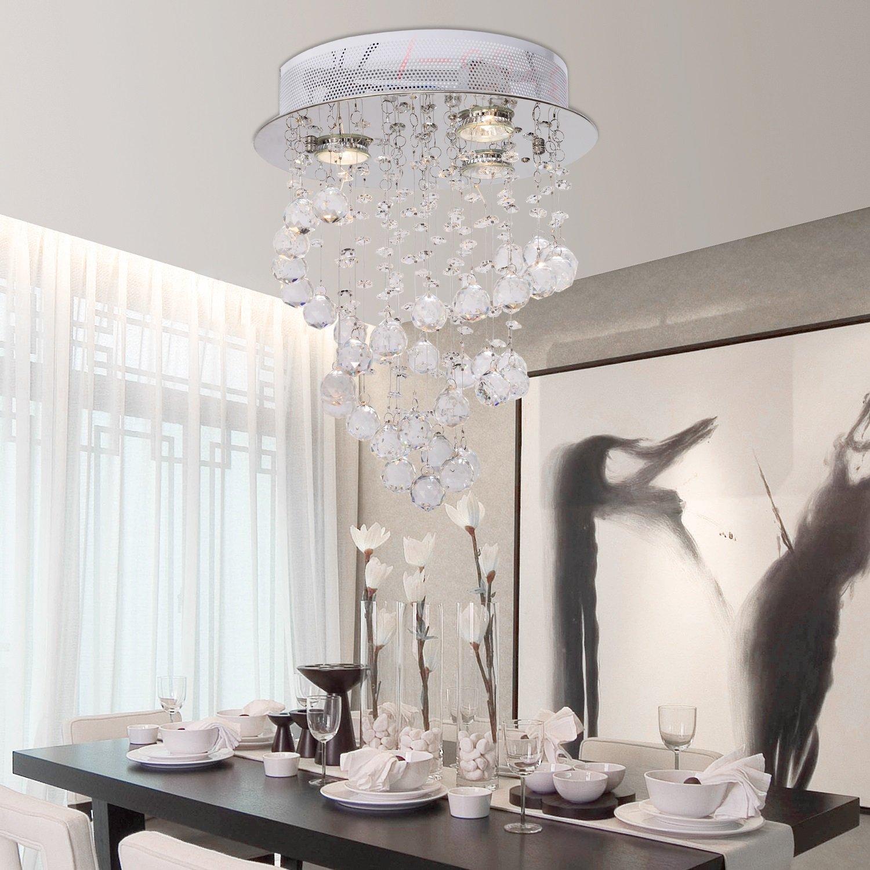 Oofay light einfacher und eleganter moderner kristallleuchter draht h ngen drei moderne - Kristallleuchter modern ...